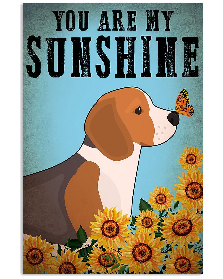 Dog Beagle You Are My Sunshine 16x24 Poster