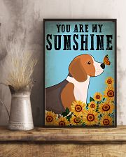 Dog Beagle You Are My Sunshine 16x24 Poster lifestyle-poster-3