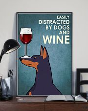 Dog Doberman And Wine 16x24 Poster lifestyle-poster-2