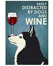 Wine And Husky Dogs  16x24 Poster front