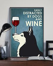 Wine And Husky Dogs  16x24 Poster lifestyle-poster-2