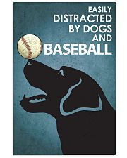 Dog Labrador And Baseball 16x24 Poster front