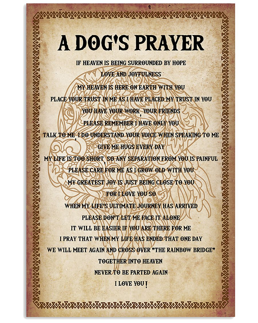 Dog Labrador A Dog's prayer 16x24 Poster