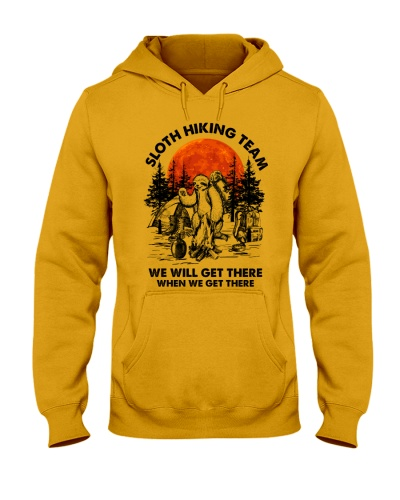 Camping Sloth Hiking Team - Hoodie And T-shirt
