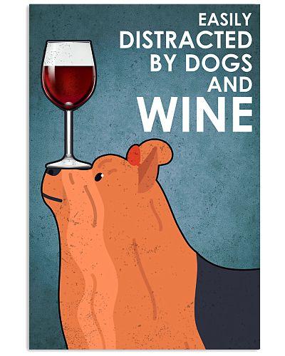 Dog Yorkshire And Wine