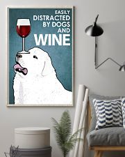 Dog Great Pyrenees And Wine 16x24 Poster lifestyle-poster-1