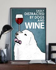 Dog Great Pyrenees And Wine 16x24 Poster lifestyle-poster-2