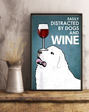 Dog Great Pyrenees And Wine 16x24 Poster lifestyle-poster-3