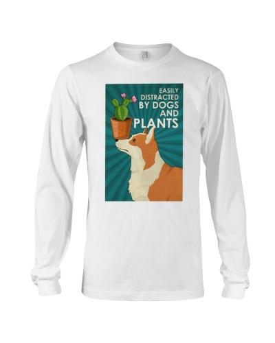 Dog Corgi And Plants