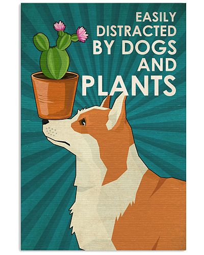 Dog Corgi And Plants