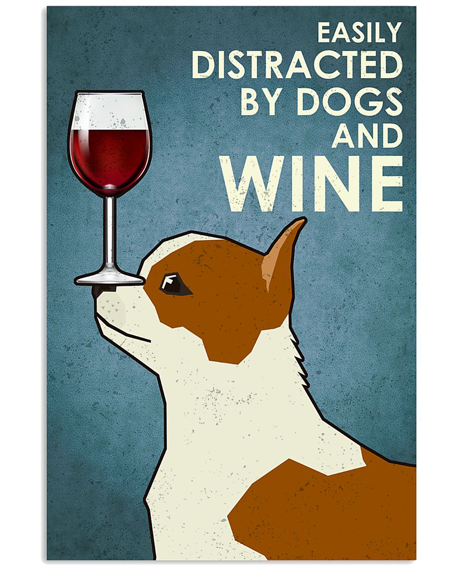Dog Chihuahua And Wine 16x24 Poster