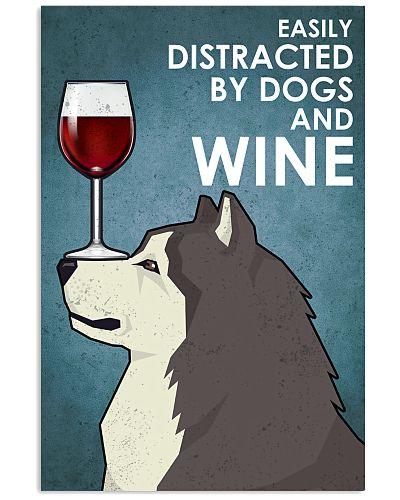 Dog Alaskan Malamute  And Wine