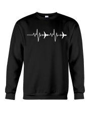 Aviation Heart Beat Crewneck Sweatshirt thumbnail
