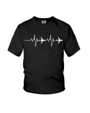 Aviation Heart Beat Youth T-Shirt thumbnail