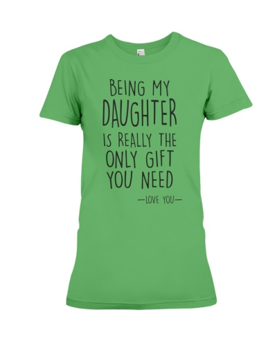 being my daughter
