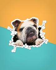 Funny bulldog breaking glass Sticker - Single (Vertical) aos-sticker-single-vertical-lifestyle-front-02