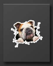 Funny bulldog breaking glass Sticker - Single (Vertical) aos-sticker-single-vertical-lifestyle-front-08