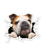 Funny bulldog breaking glass Sticker - Single (Vertical) front