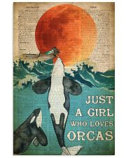 Just A Girl Who Loves Orcas 24x36 Poster front