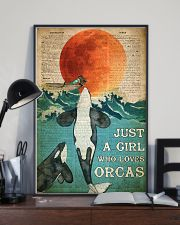 Just A Girl Who Loves Orcas 24x36 Poster lifestyle-poster-2