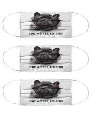 Six feet people Frenchie Cloth Face Mask - 3 Pack front
