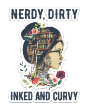 Nerdy dirty inked and curvy Sticker - Single (Vertical) front