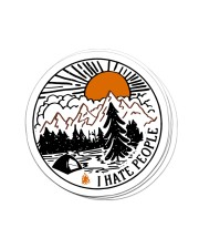 Camping i hate people Sticker - 6 pack (Vertical) front