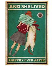 Reading Cat And She Lived Happily Ever After 24x36 Poster front