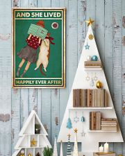 Reading Cat And She Lived Happily Ever After 24x36 Poster lifestyle-holiday-poster-2