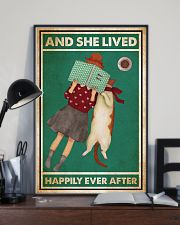 Reading Cat And She Lived Happily Ever After 24x36 Poster lifestyle-poster-2
