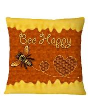 Hippie Bee Happy Square Pillowcase tile