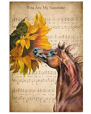 Horse You are my sunshine 24x36 Poster front