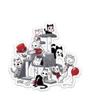 Halloween cat horror movie Sticker - Single (Vertical) front