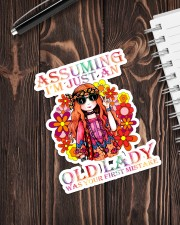 Hippie Assuming I'm just an old lady was your  Sticker - Single (Vertical) aos-sticker-single-vertical-lifestyle-front-05