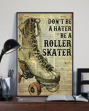 Don't be a hater be a roller skater 24x36 Poster lifestyle-poster-2