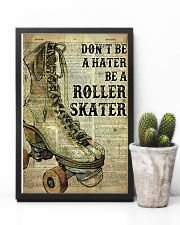 Don't be a hater be a roller skater 24x36 Poster lifestyle-poster-8