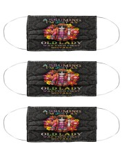 hippie assuming i'm just an old lady Cloth Face Mask - 3 Pack front