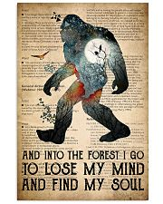 Bigfoot Into The Forest I Go 24x36 Poster front