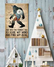 Bigfoot Into The Forest I Go 24x36 Poster lifestyle-holiday-poster-2