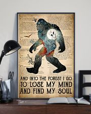 Bigfoot Into The Forest I Go 24x36 Poster lifestyle-poster-2