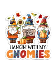 Hangin with my gnomes Sticker - Single (Vertical) front