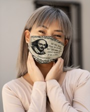 Shkespeare the fool doth think he is wise Cloth Face Mask - 3 Pack aos-face-mask-lifestyle-17