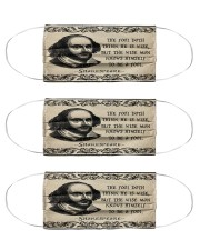 Shkespeare the fool doth think he is wise Cloth Face Mask - 3 Pack front