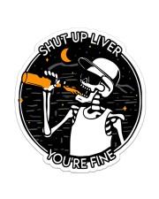 Beer sht up liver Sticker - Single (Vertical) front