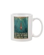 And into the ocean I go Mug tile