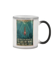 And into the ocean I go Color Changing Mug tile