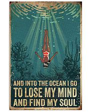 And into the ocean I go 24x36 Poster front