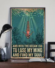 And into the ocean I go 24x36 Poster lifestyle-poster-2