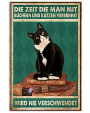 Time Spent With Books And Cats Is Never Wasted 24x36 Poster front