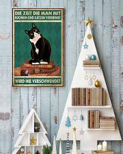 Time Spent With Books And Cats Is Never Wasted 24x36 Poster lifestyle-holiday-poster-2